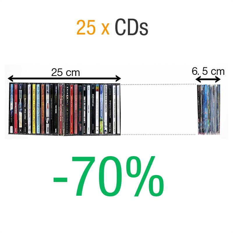 CD fickor för CD förvaring med flik 100 st.